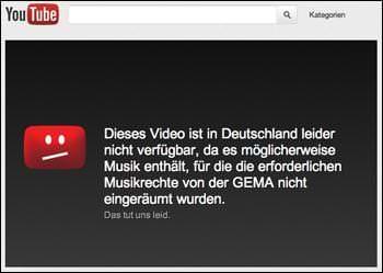 Video in Deutschland nicht Verfügbar