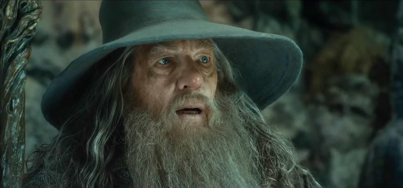 Gandalf aus dem offiziellen Trailer von der Hobbit 2 - Smaugs Einöde