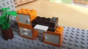 Drucker aus LEGO gebaut