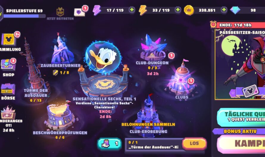 Disney Sorcerer's Arena (DSA) | Tipps, Charaktere und Lösungen
