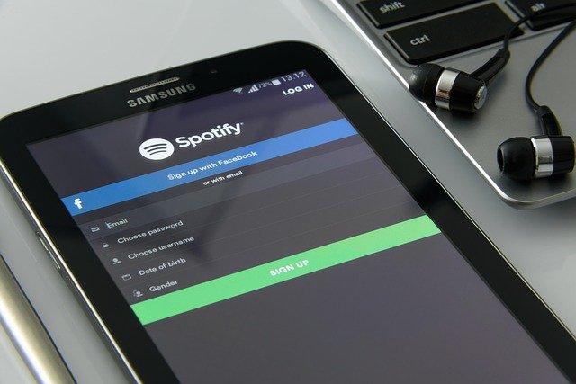 Spotify auf dem Tablet